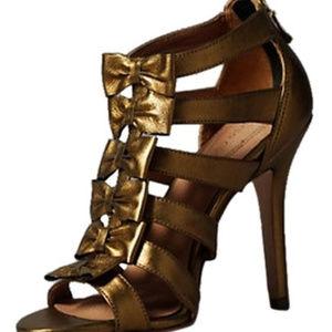 Corso Como women's Leather heels Brown/Bronze